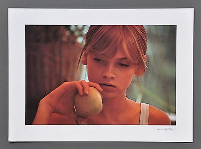 David Hamilton Ltd. Ed. Photo Signed in Print 40x29 Young girl Apple Jeune Fille