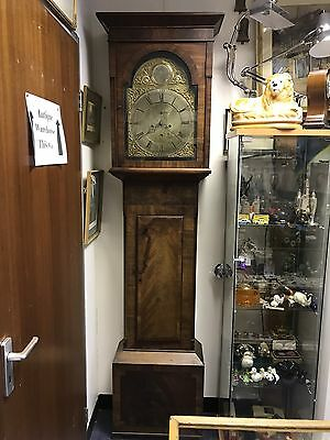 Quality Georgian Mahogany 8 Day Brass Arch dial Long case Clock. Offers?