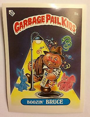 Boozin Bruce 9a Garbage Pail Kids (1985) UK 1st Series Sticker/1980's/Vintage