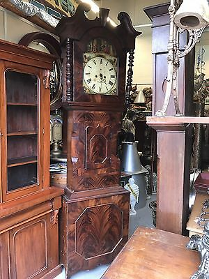 Quality Georgian Mahogany 8 Day Painted Arch dial Long case Clock. Offers?