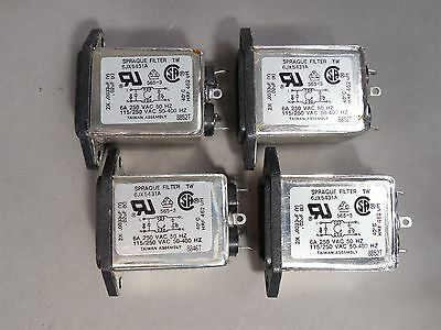 Lot of 4 Sprague 6JX5431A RF Interference Filters 6A 250VAC 50HZ NEW