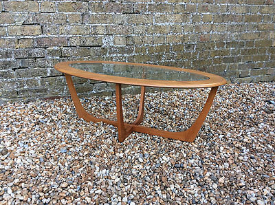 Vintage 1960's Oval Teak and glass G plan style coffee table