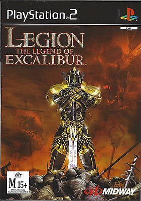 LEGION THE LEGEND OF EXCALIBUR for Playstation 2 PS2 - with box & manual - PAL