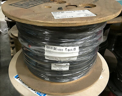 Belden 89248 RG6 Plenum Coax Cable 1000ft Black