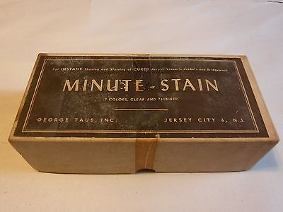 "VINTAGE Dental Office ""Minute-Stain"" 1960's Stain Kit IOB with Orig Bottles"