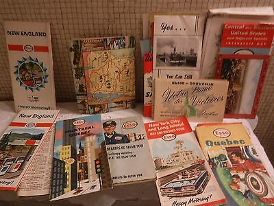 VINTAGE HUGE Lot Road Maps-Post Cards-Tourist Stops-Travel Advertising-GIANT LOT