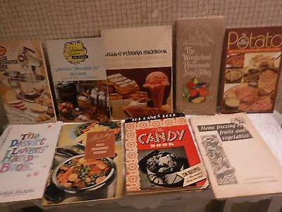 VINTAGE HUGE LOT of Product Advertising Cookbooks-VINTAGE Recipes Packed w/ YUM
