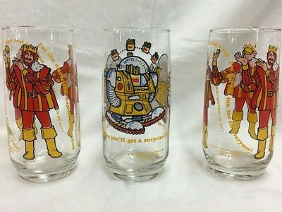 VTG 1979 Burger King Collector Glasses  Magical Burger King and Wizard of Fries
