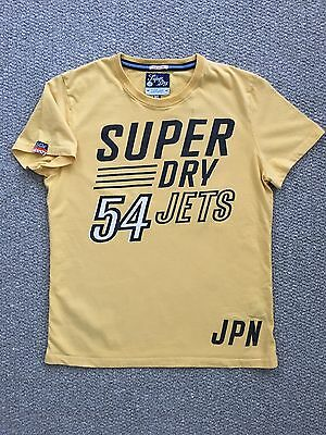 Superdry Men's Yellow Short Sleeve T-Shirt Size XL