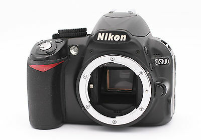 Nikon D D3100 14.2MP Digital SLR Camera - Black (Body Only) - Shutter Count:2180