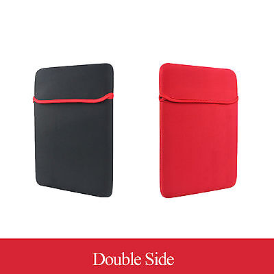 """15.4"""" 15.6"""" Notebook Laptop Double-Side Soft Sleeve Protection Case Bag Cover"""