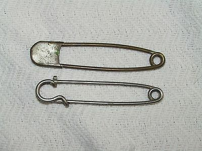 """Vintage Lot Of 2 Large Diaper Pin Key Chains 4"""""""