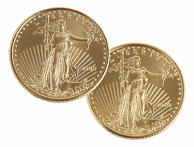 2009 & 2010 1/10oz Gold American Eagle Set