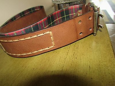 "Robert Graham ""Vintage"" Full grain Leather Belt Brown w/Silver Tone Buckle Sz.42"