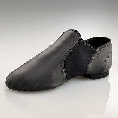 "NEW IN BOX Capezio ""E Series Slip On Jazz Shoe"" EJ2 in Black, Adult Sizes"