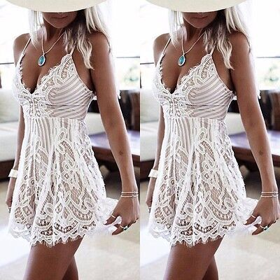Women-Summer-Sleeveless-Lace-Casual-Evening-Party-Cocktail-Short-Mini-Dress
