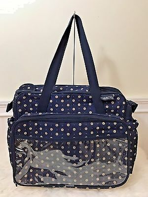GRACO Blue Baby Organizing Multi Pocket Diaper Bag Tote Boy Girl Unisex