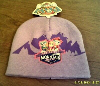 Paw Patrol Knit Lavender Stocking Hat Cap For Girls New