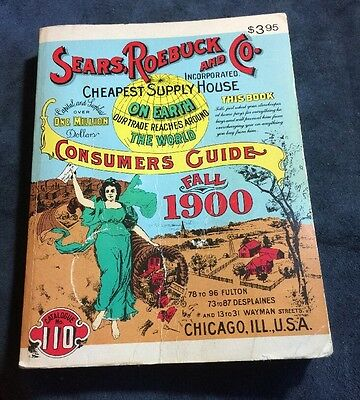 BOOK COLLECTORS~Vintage 1970 Sears Roebuck and Co. Fall 1900 Consumer's Guide~