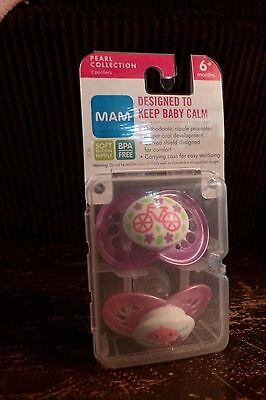 New Mam Pearl Collection Package Of 2 Pacifiers 6+ Months