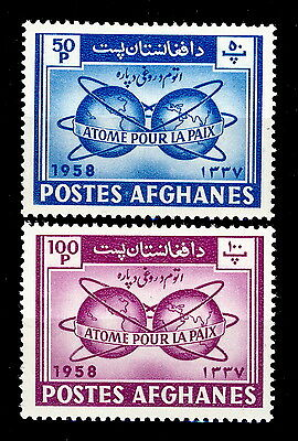 AFGHANISTAN - 1958 - Mi.472A/473A 50P & 100P Atom for Peace Issue - NEUF/ MINT *