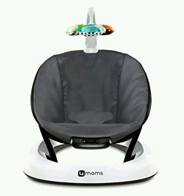 4moms bounceRoo Bouncer in Dark Grey Classic Infant Baby Seat New in Box
