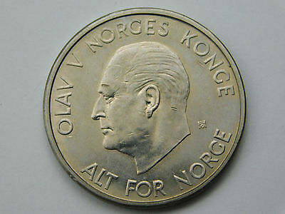 1963 Norway 5 Kroner coin foreign (1093)