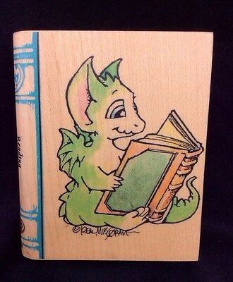 """READING 1999 Visual Image Printery 4"""" MUSGRAVE DRAGON Rubber STAMP VIP"""