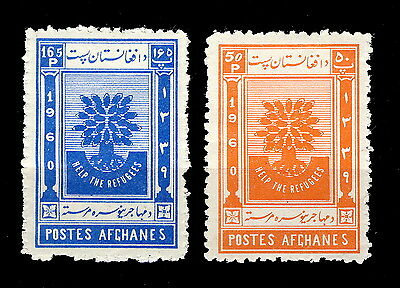 AFGHANISTAN - 1960 Mi.488A/489A Year of the Refugees Neuf / Mint *
