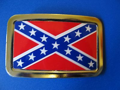 New Southern Flag Metal Belt Buckle Rebel Made in USA