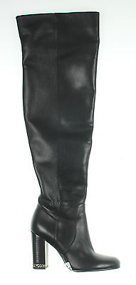 Women's MICHAEL KORS Black Leather Knee High Boots Size 6