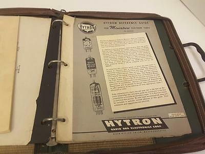 Vintage HYTRON REFERENCE GUIDE, FOR MINIATURE ELectron guide 1950