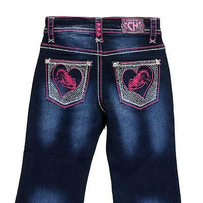 Cowgirl Hardware Toddler Girl's Pink Horse Heart Embroidered Jeans 802011-810-JT