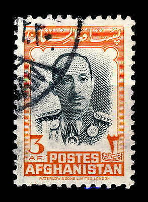 AFGHANISTAN - 1957 - Mi.449 3A Orange & Black - Oblitéré / Used
