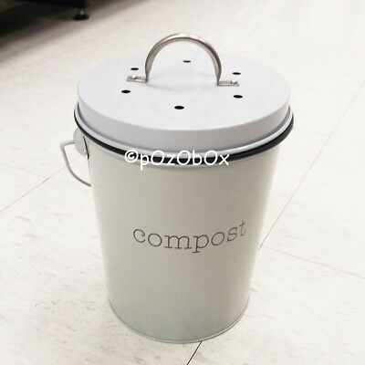 Home Compost Bin 24cm Waste Composter Food Garden Recycling Tumbler Scrap Trash