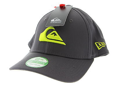 New With Tags Boy's QUICKSILVER Grey Cotton Blend Baseball Hat Size Child-youth