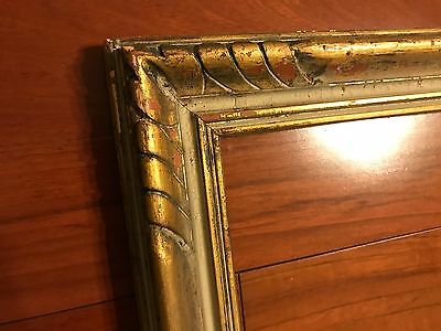 Antique 30x25 Newcomb Macklin Style Carved Picture Frame 1920s