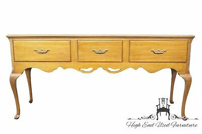 "DAVIS CABINET Solid Antique Walnut 71"" Queen Anne Hunt Board Sideboard 433"