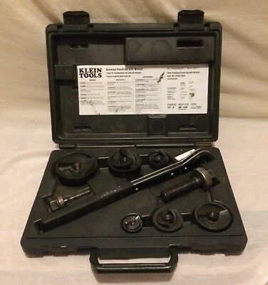 Klein Tools 53732SEN Knockout Complete Punch Set with Wrench Dies Bolts Punches