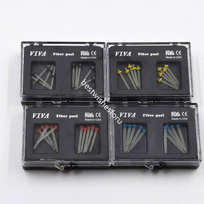 Dental Drill Translucent Thread Glass Fiber Post Straight Pile 4 Size To Choose