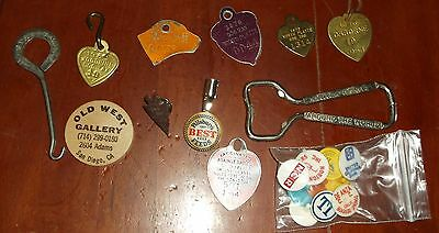 Misc Lot Bond Street Spats Hook Hilton Hotel Opener Dog Tags Golf Ball Markers