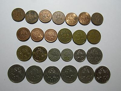 Lot of 25 Different Barbados Coins - 1973 to 2003 - Circulated & Brilliant Unc.
