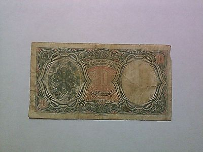 Old Egypt Paper Money Currency - #184a 1971 no date 10 Piastres - Well Circ.