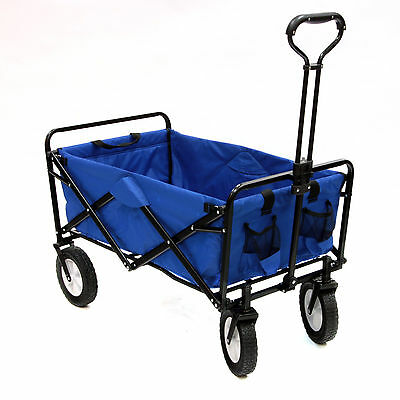 Shopping Basket Folding Cart On With Wheels Outdoor Utility Wagon