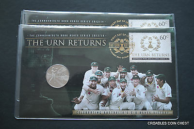 2X Consecutive The Urn Returns First Day Cover & 20 Cent Coin Low Mintage  7500