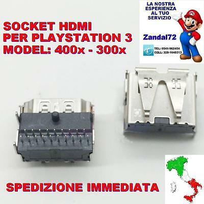 Socket Hdmi Playstation 3 Ps3 Cech-300X/400X Porta Connettore Hdmi Con 2 File 19