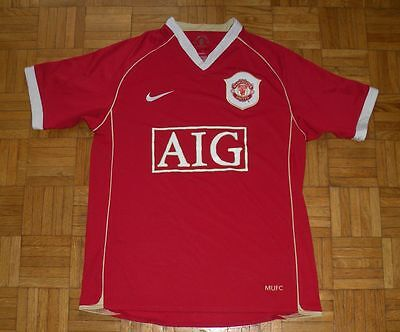 "Manchester United 2006/2007 Nike ""S"" Adults Home Shirt Football Jersey"