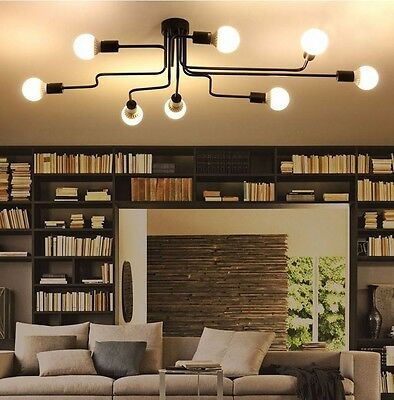 Industrial Led Home Lighting Fixture Ceiling Lamp Multiple Light Bulb Pendant