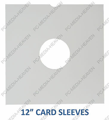 """12"""" Lp White Card Vinyl Record Masterbags Sleeves Storage Protection Cover Bulk"""