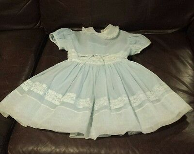 Vintage Cinderella Inspired by Shirley Temple Toddler Girls Blue Dress Size 3
